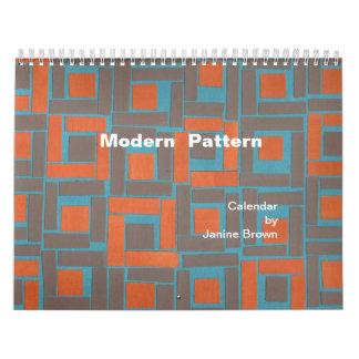calendario moderno del modelo