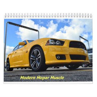 Calendario moderno del músculo de 2015 Mopar
