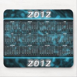 Calendario Mousepad del azul 2012 Alfombrillas De Ratón