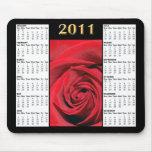 Calendario Mousepad del rosa rojo 2011 Alfombrillas De Ratones