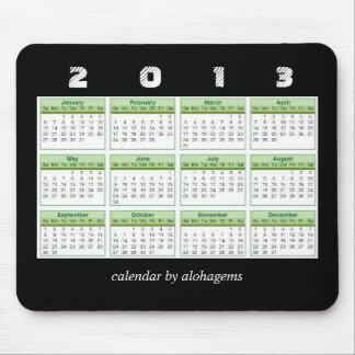 Calendario Mousepad del verde 2013 de la selva