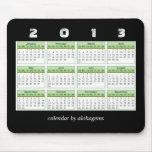Calendario Mousepad del verde 2013 de la selva tro Alfombrillas De Ratones