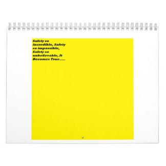 Calendario muy simple de la seguridad