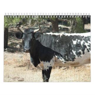 Calendario negro de la vaca
