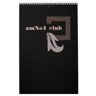 Calendario negro elegante