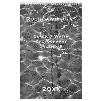 Calendario negro y blanco de encargo de la