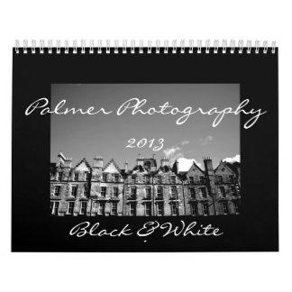 Calendario negro y del blanco 2013