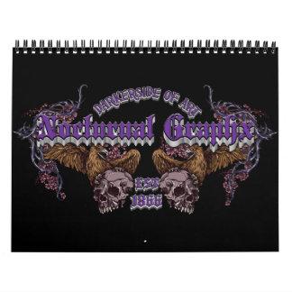 Calendario nocturno de Graphx 2013