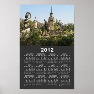 Calendario… Nong Khai, Tailandia de Sala Keo Kou Póster