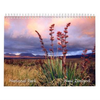 Calendario NZ del parque nacional