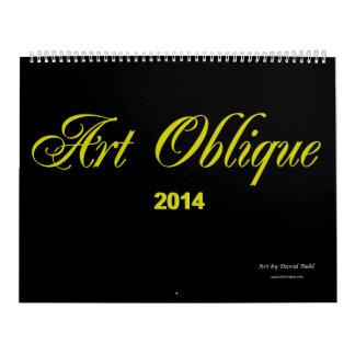 Calendario oblicuo 2014 del arte