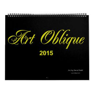 Calendario oblicuo 2015 del arte