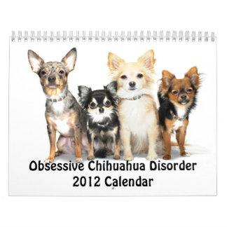 Calendario obsesivo del desorden 2012 de la