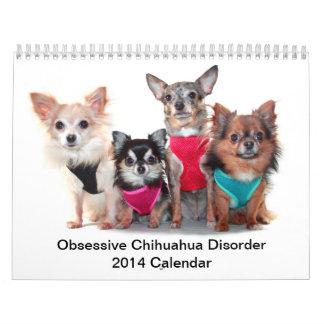 Calendario obsesivo del desorden 2014 de la