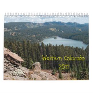 Calendario occidental 2011 de la foto de Colorado