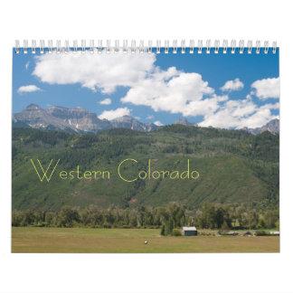 Calendario occidental de la foto de Colorado