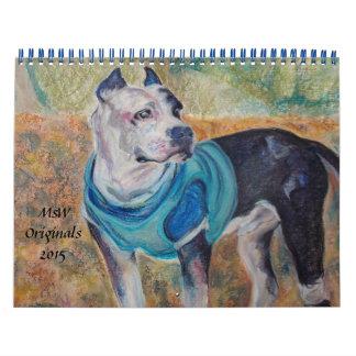 Calendario original del perro de MsW