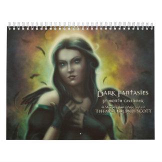Calendario oscuro de la fantasía del reino de