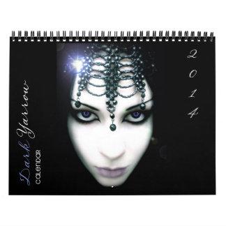 Calendario oscuro del arte 2014 de la milenrama