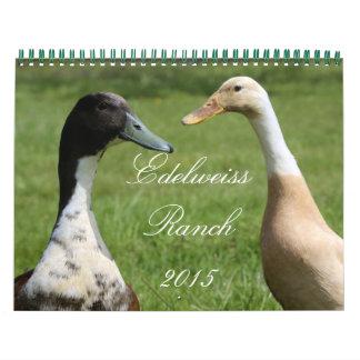 Calendario-Pájaros del rancho de Edelweiss Calendarios