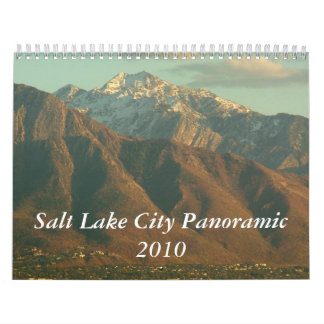 Calendario panorámico 2010 de Salt Lake City