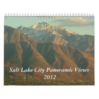 Calendario panorámico 2012 de Salt Lake City