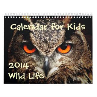 Calendario para los niños - 2014 - vida salvaje