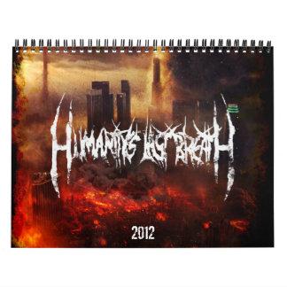 Calendario pasado de la respiración 2012 de la hum