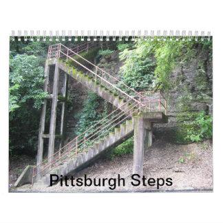 Calendario: Pasos de Pittsburgh Calendario De Pared
