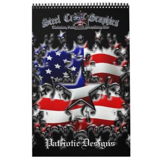 Calendario patriótico 2013 de los diseños del SCG