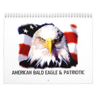 Calendario patriótico y de Eagle de pared