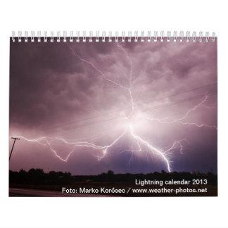 Calendario peligroso del relámpago 2013