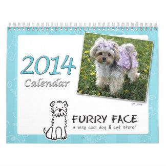 Calendario peludo de la cara 2014