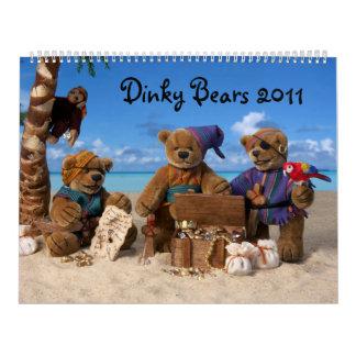 Calendario pequeño 2011 de los osos