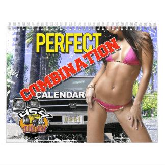 Calendario perfecto de los coches y de los chicas