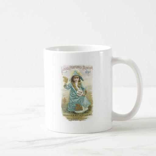 Calendario perfumado 1893 señoras Hoyt y Co. Co al Taza