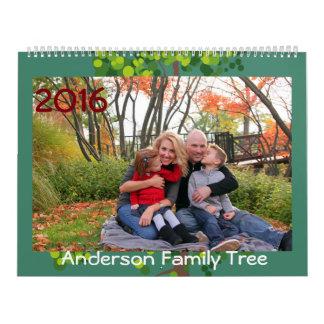 Calendario personalizado 2016 del árbol de familia