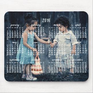 Calendario personalizado 2016 del cojín de ratón tapete de raton