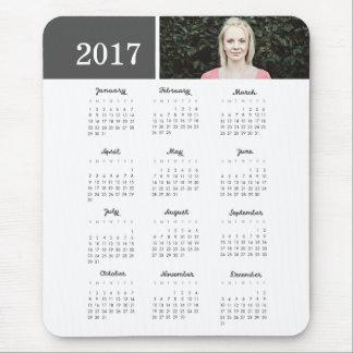 Calendario personalizado de la foto 2017 tapetes de raton