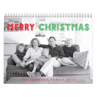 Calendario personalizado de las Felices Navidad