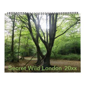 Calendario personalizado Londres salvaje secreto