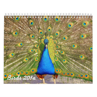 Calendario personalizado pájaros