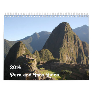 Calendario Perú y ruinas del inca