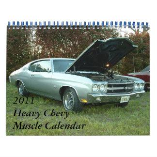 Calendario pesado del músculo de 2011 Chevy