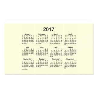Calendario poner crema del bolsillo 2017 por la tarjetas de visita