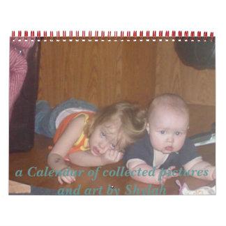 Calendario por completo de las fotos de familia