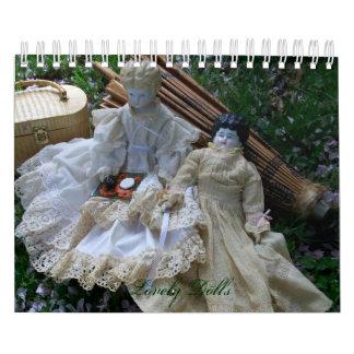 Calendario precioso de las muñecas