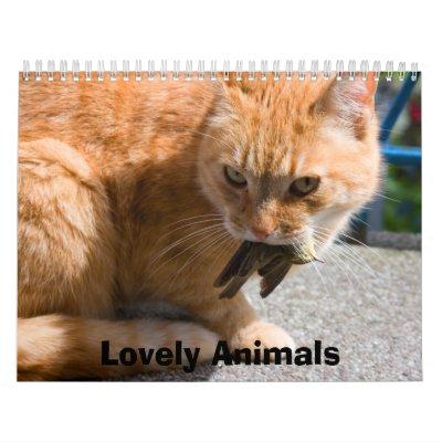 Calendario precioso de los animales 2012