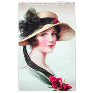 Calendario precioso del arte 2015 del vintage