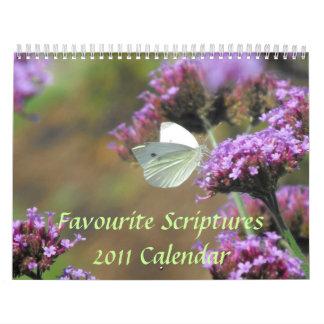 Calendario preferido de las escrituras 2011